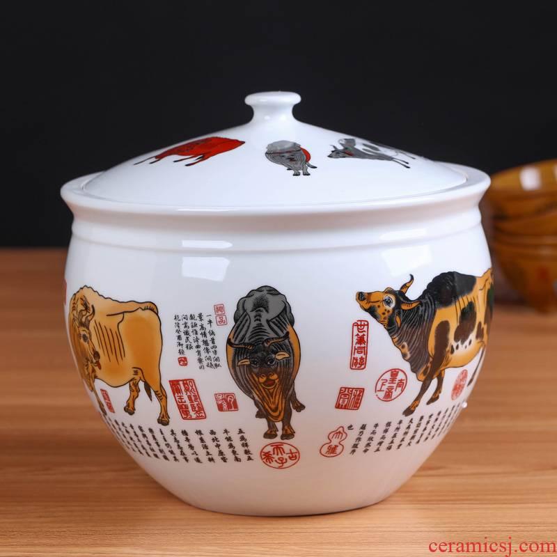 Jingdezhen ceramics pu large tea packaging gift box the tea pot home seven loaves seal pot of tea cake