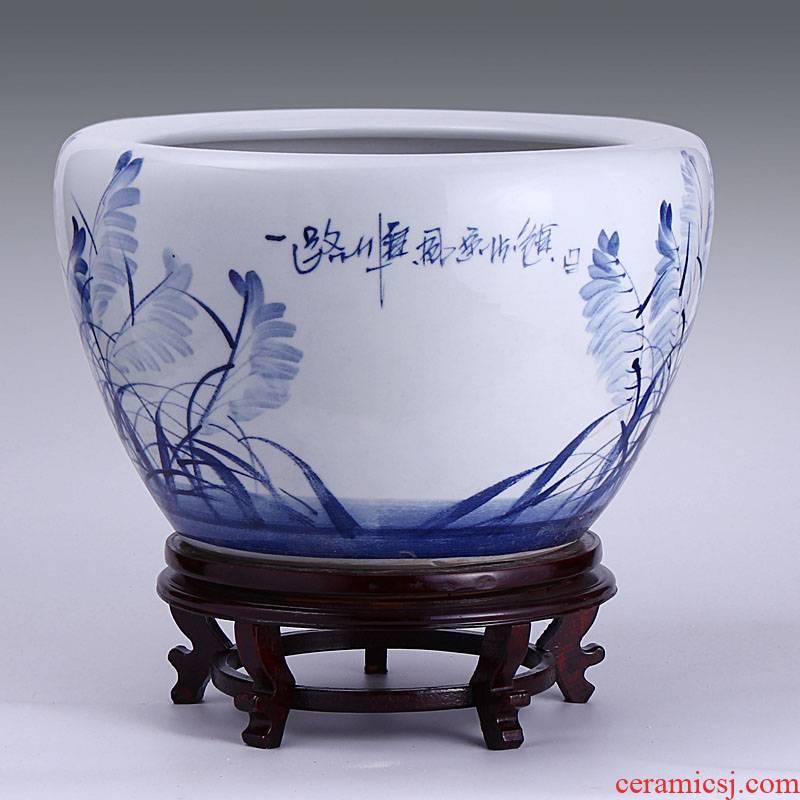 Have buy Have the send jingdezhen ceramic aquarium goldfish bowl shallow water aquarium