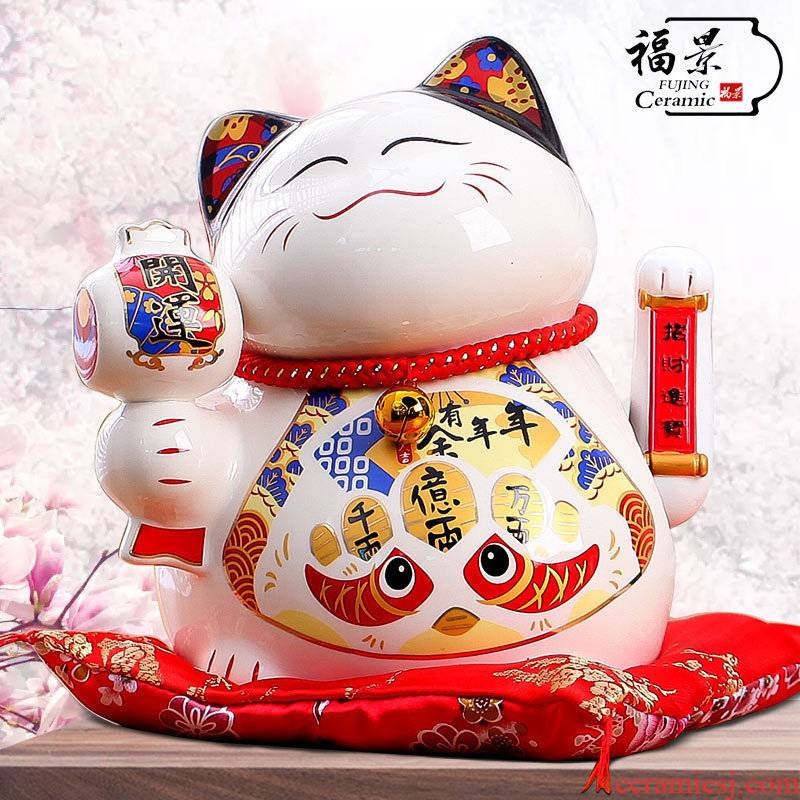 The scene plutus cat furnishing articles large shops opening creative gift ceramics handicraft ornament gift