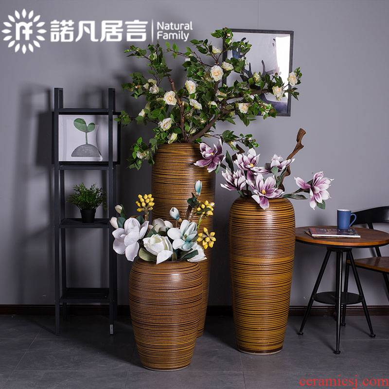 Jingdezhen ceramics of large vases, flower arranging dried flowers furnishing articles coarse pottery style restoring ancient ways the hotel villa living room decoration