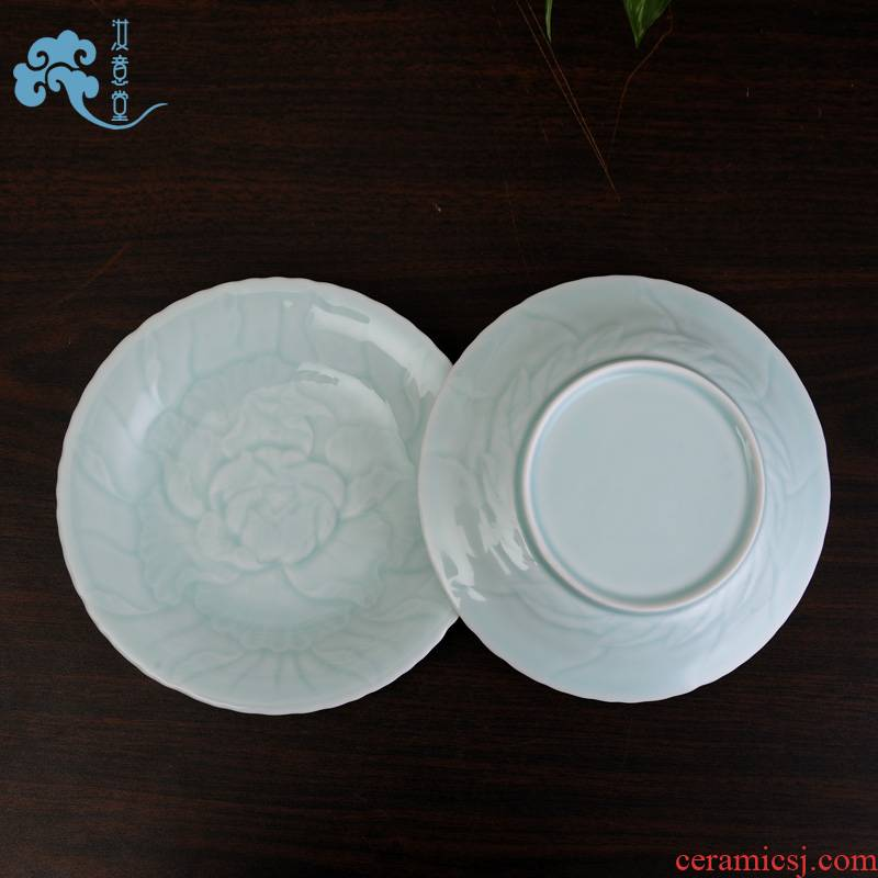 Ceramic tableware dab your up celadon dishes flavor dish of sauce dish dish dish plates snack inn to home