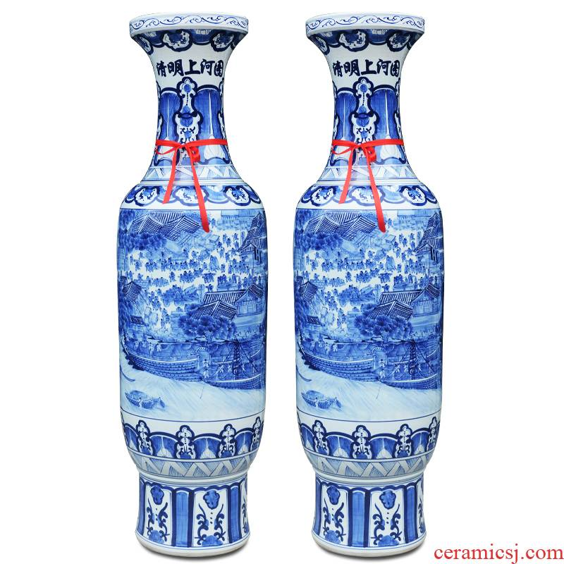 Jingdezhen ceramics hand - made ching Ming vase painting porcelain the French I sitting room place opening gifts