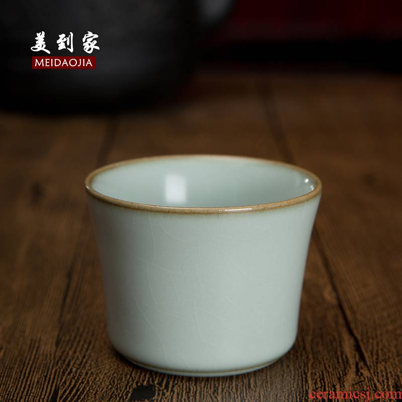 Beautiful home your up ceramic kung fu tea tea set purple sand cup cup sample tea cup bowl is all hand small triad cup