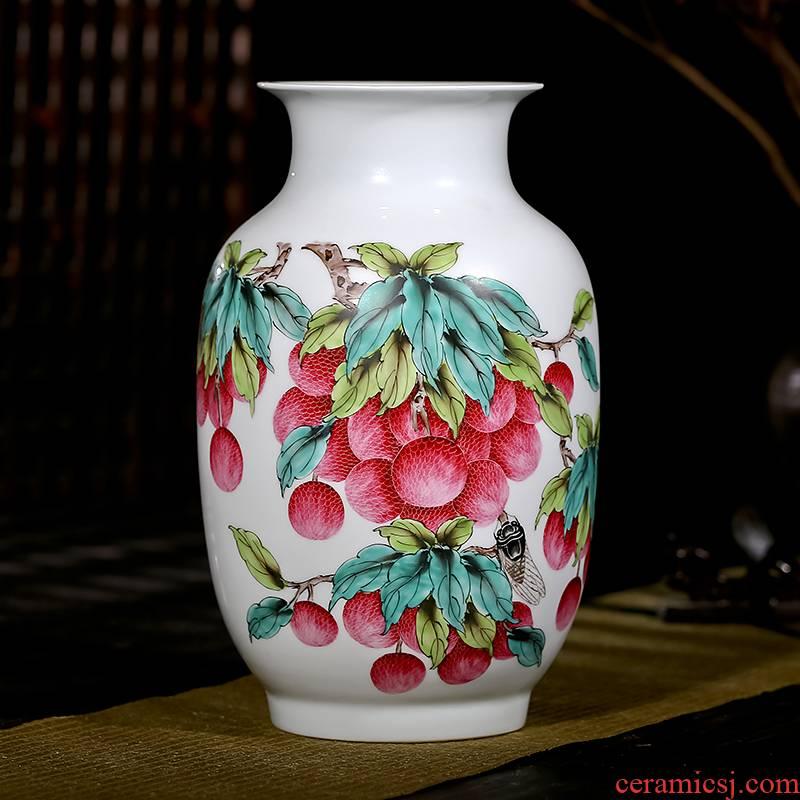Jingdezhen ceramics powder enamel hand - made vases, flower arranging modern new Chinese style porch sitting room adornment handicraft furnishing articles