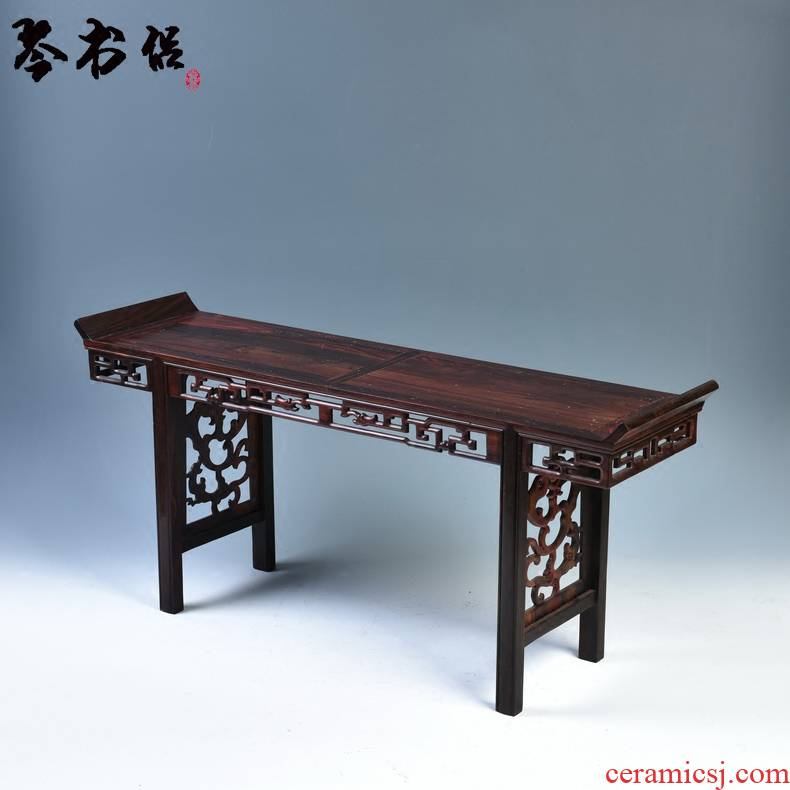 Pianology picking solid wood furnishing articles red mahogany base acid branch guanyin Buddha base rectangular flower miniascape of base frame