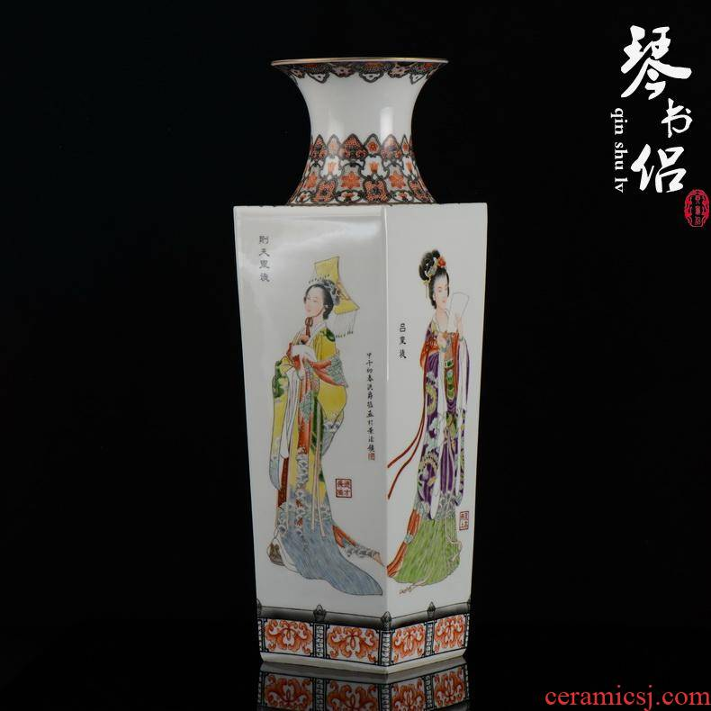 Master hung jue jingdezhen porcelain works hand - made vases of vibration after the four most famous celebrity famous handicraft furnishing articles