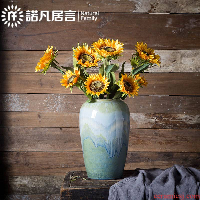 Mesa vases, ceramic hotel furnishing articles the sitting room porch of TV ark wine dried flower arranging flowers flower implement creative new Chinese style