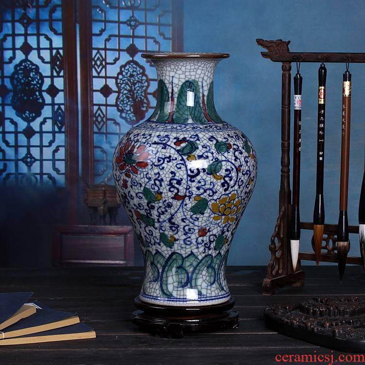 Hand draw the blue and white porcelain, porcelain in jingdezhen ceramic vase new colorful ceramic vases, furnishing articles antique furniture