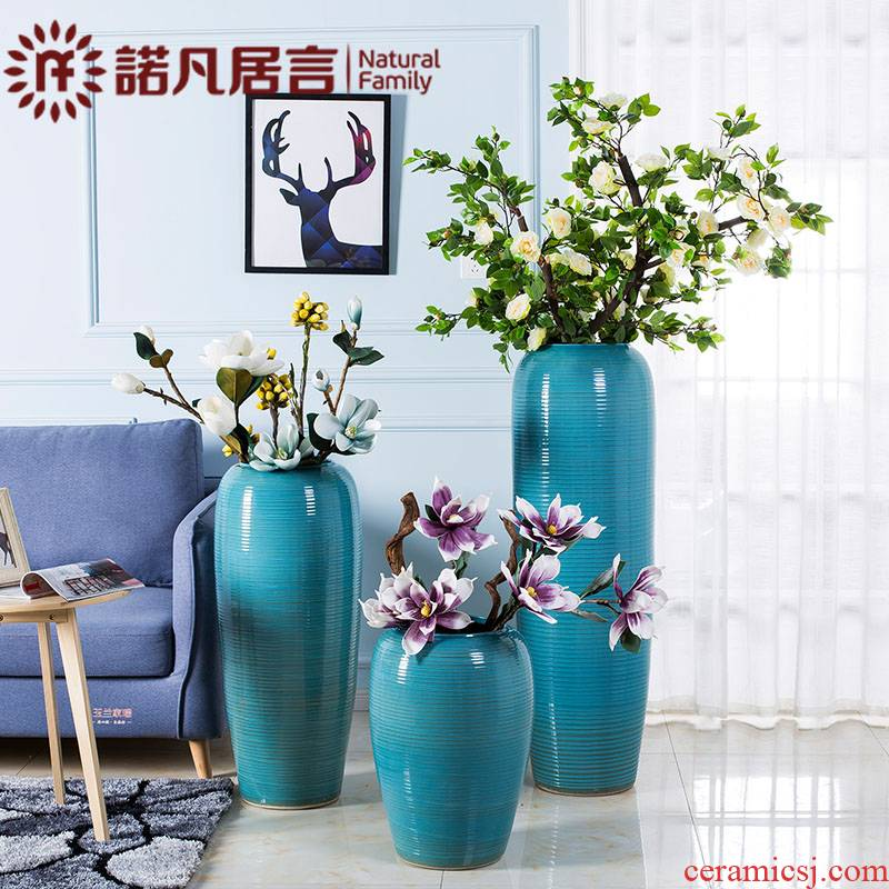 Ceramic flower vases, American European furnishing articles contracted and I Mediterranean hotel club small pure and fresh and living room decoration