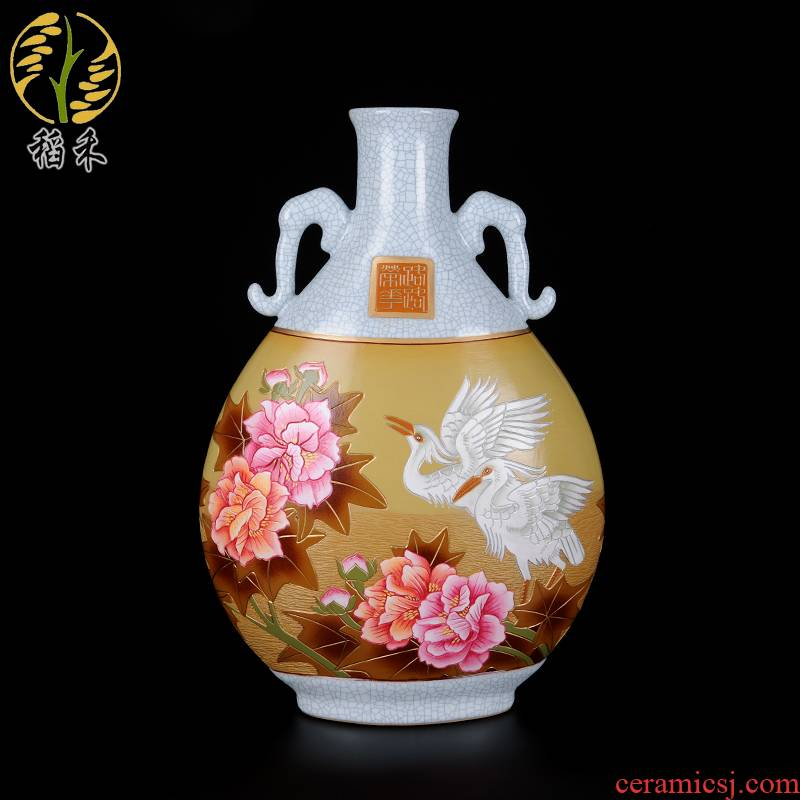 Your up craft ceramic vase coloured drawing or pattern, the sitting room porch decoration of Chinese style household furnishing articles festival wedding gift
