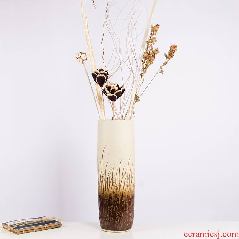 Jingdezhen ceramic dry flower vases, flower arranging I and contracted beauty European pottery landing place large a76 sitting room
