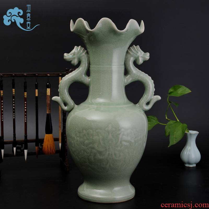 Archaize your up porcelain arts and crafts home sitting room adornment porcelain ceramic art large vase furnishing articles