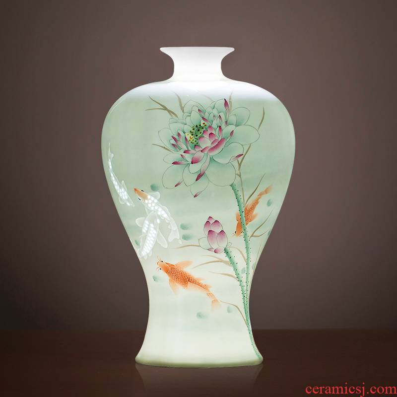 The Master of jingdezhen ceramic vase Chinese hand - made home sitting room porch famille rose more than decorative furnishing articles every year
