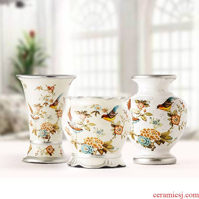 Merry jingdezhen ceramics furnishing articles sitting room adornment handicraft European antique vase modern furnishing articles M8 at home