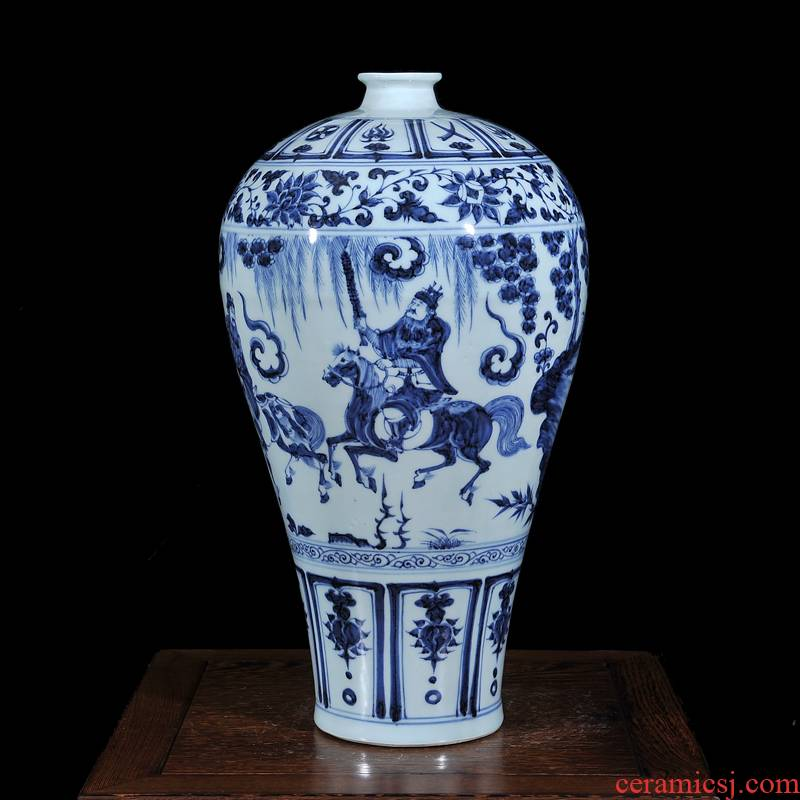 Jingdezhen ceramics antique porcelain vases, antique name plum bottle collection of classical household decoration small place
