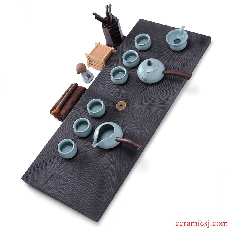 Mingyuan FengTang sharply stone over flow to tea sets tea tray of a complete set of your up purple ceramic tea set for Buddha