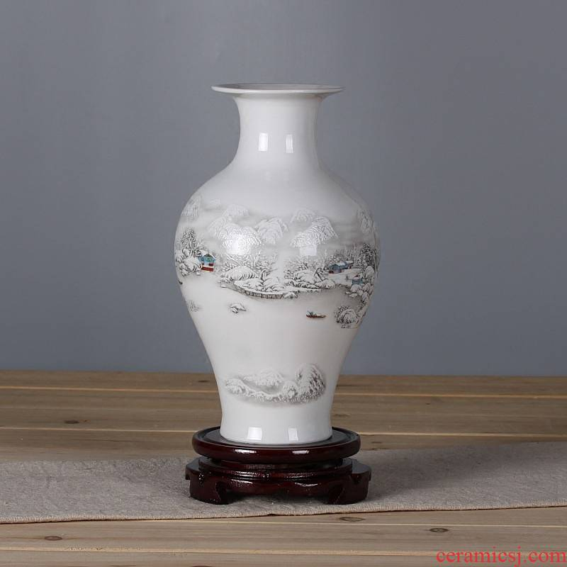 The Vase of jingdezhen ceramics flower arrangement, household act the role ofing is tasted furnishing articles sitting room decorations