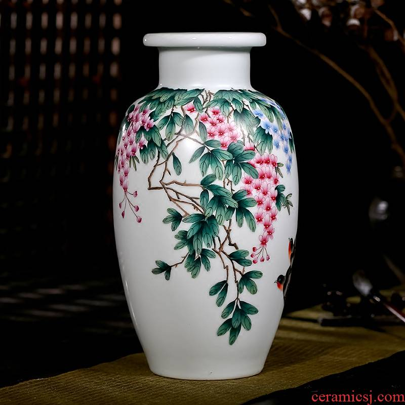 The Master of jingdezhen ceramics hand - made pastel sabingga sukdun dergici jimbi vases, flower arranging rich ancient frame sitting room porch place