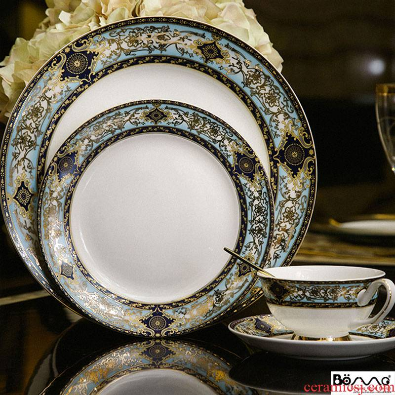 """Good continental plate model room suit of character steak household porcelain tableware palace hotel ceramic sell like hot cakes"