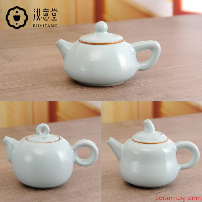 Authentic your up teapot kung fu tea set ceramic teapot undressed ore hand pot of pure manual archaize stone gourd ladle pot of household