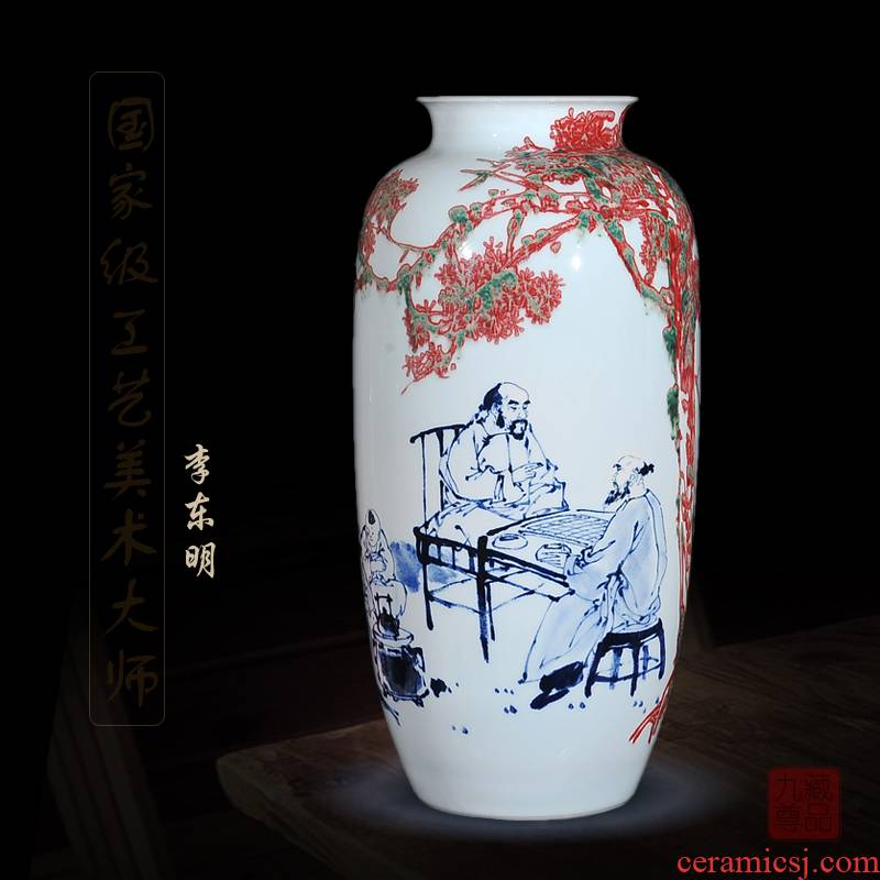 Jingdezhen blue and white youligong dong - Ming li hand - made ceramics vase is le figure sitting room handicraft furnishing articles