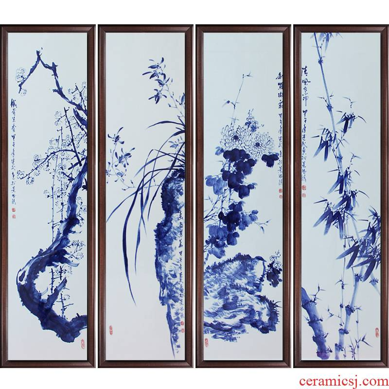 Jingdezhen ceramics celebrity hand - made by patterns sitting room adornment porcelain plate painting murals household crafts