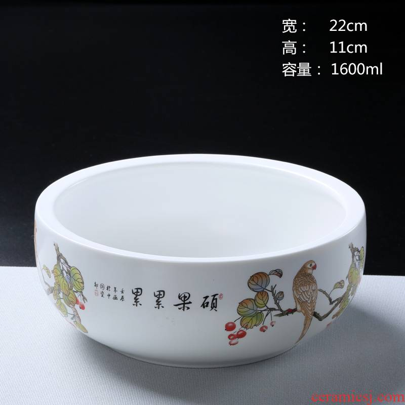 Water keeps refers to flower pot large hydroponic copper bowl lotus grass ceramic flower pot without large lucky bamboo flower pot hole vessels