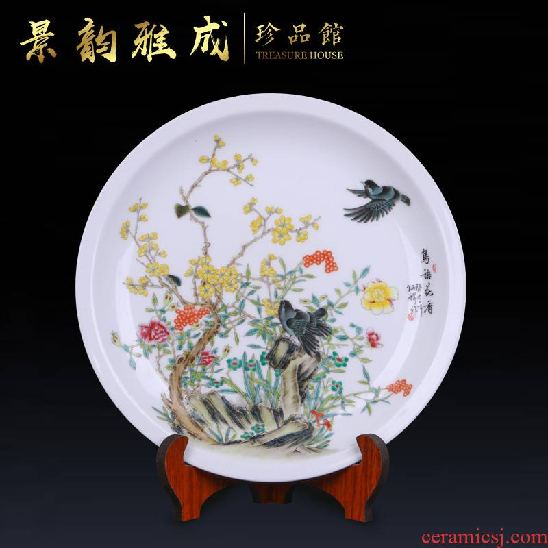 The New Chinese jingdezhen ceramics craft decoration plate of furnishing articles sitting room porch hang dish plate decoration art