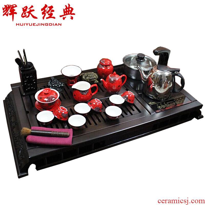 Hui make ebony tea tray tea sets induction cooker tea pumping induction cooker purple sand tea sets