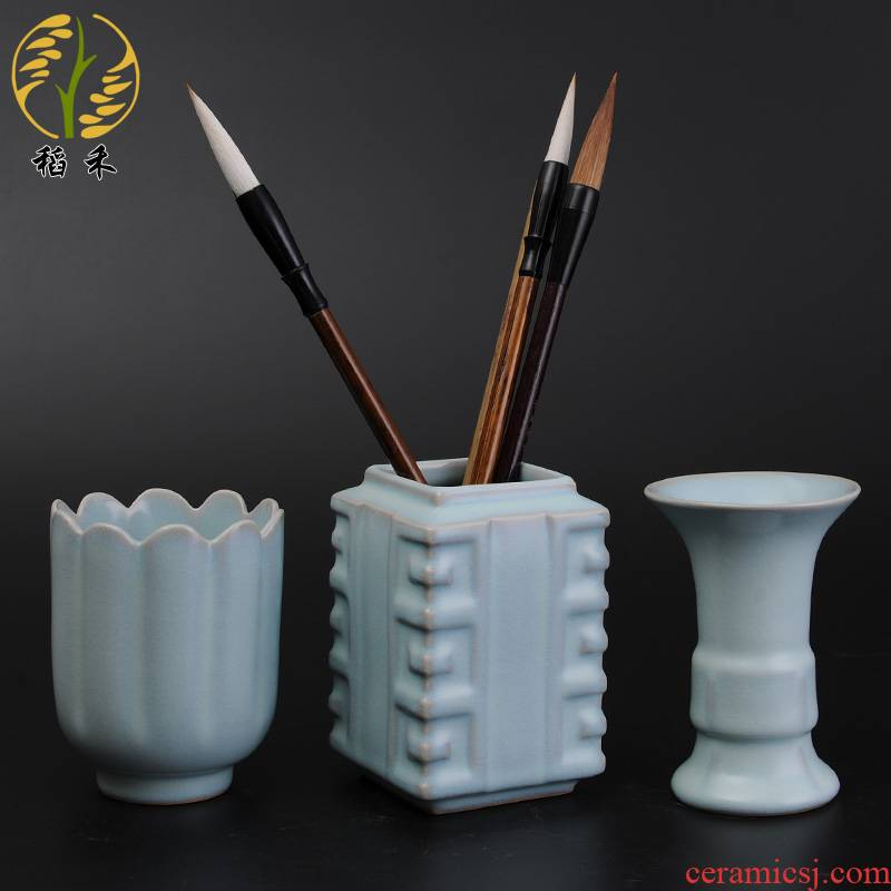Your up ceramic arts and crafts porcelain brush pot study desk desk accessories place characteristic the the teacher gifts
