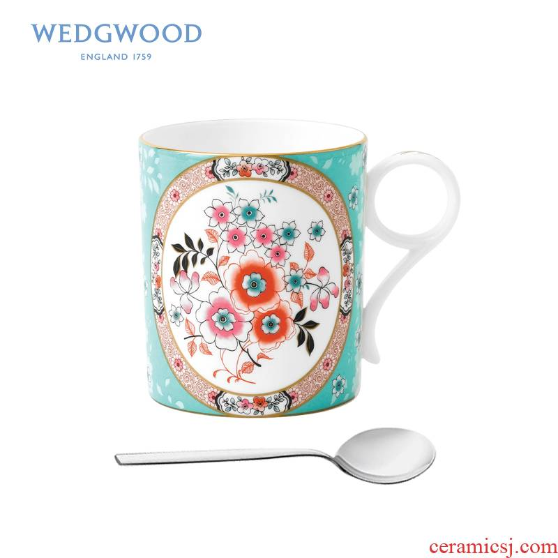 Wedgwood waterford Wedgwood roaming in 250 ml ipads China mugs + WMF teaspoons of European household glass