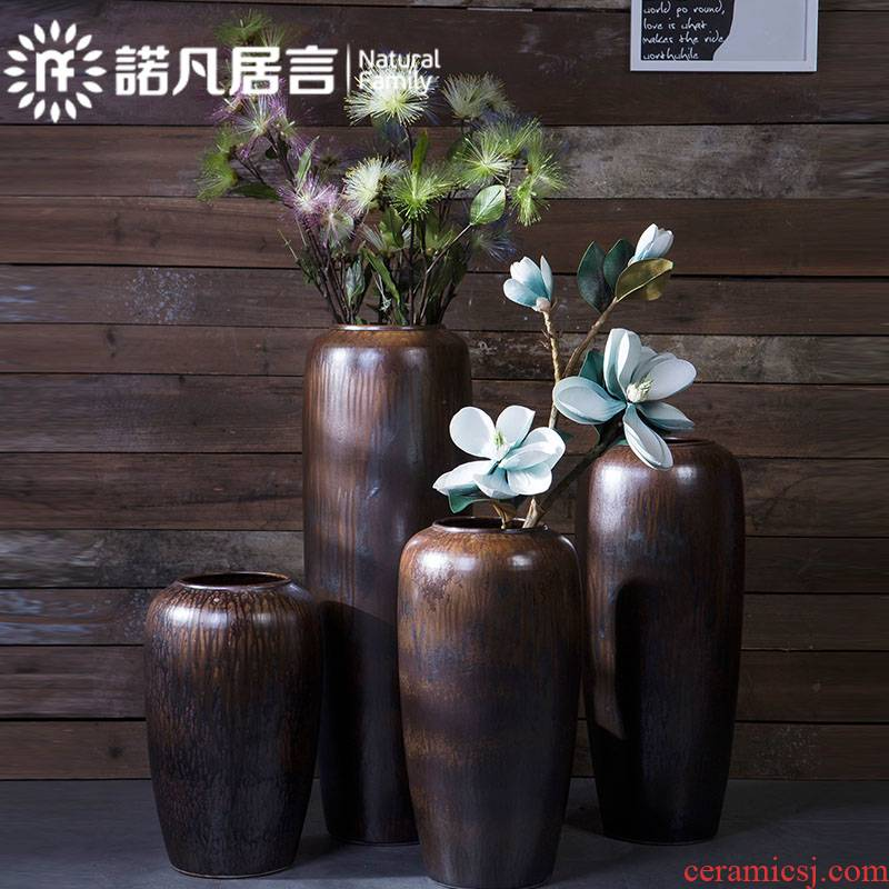 Jingdezhen ceramic vases, I and contracted restoring ancient ways is the ground flower arrangement sitting room hotel villa decorations decoration decoration