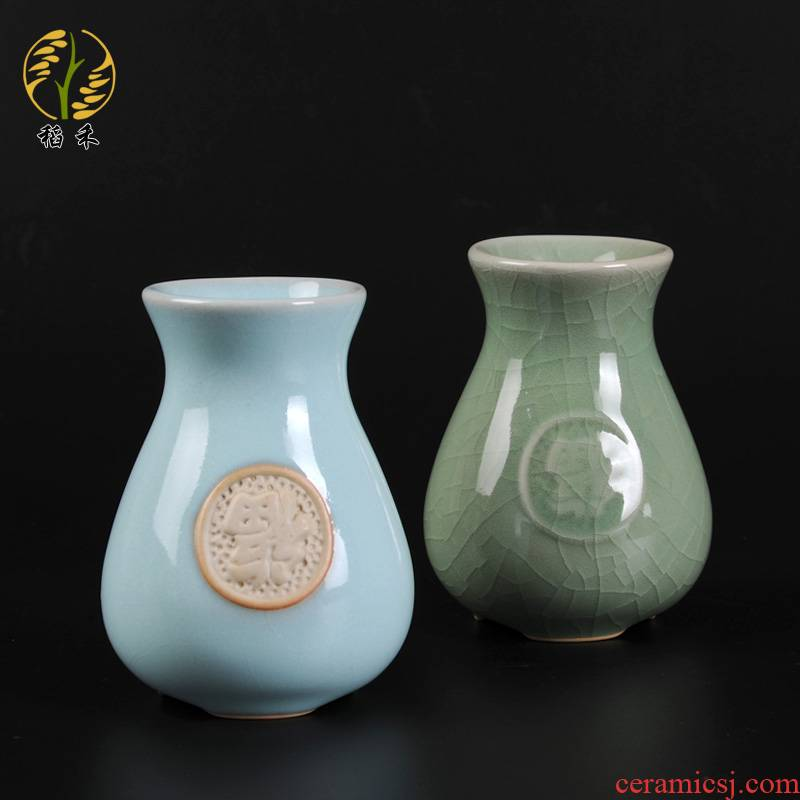 Your up vase small ceramic flower vases Chinese tea taking decorative furnishing articles contracted household table sitting room tea table