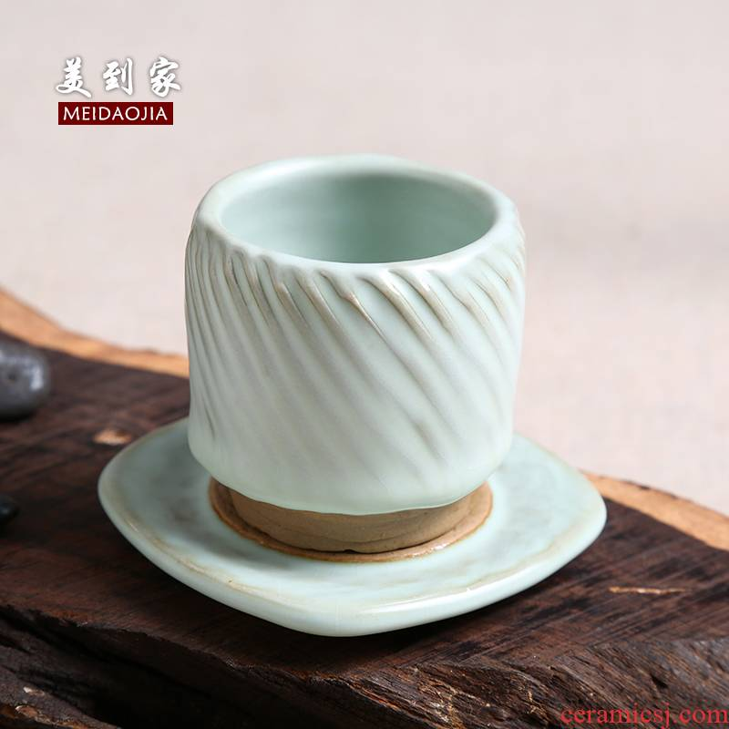 Beautiful home tzu wild ceramic kung fu small coarse pottery cups sample tea cup your up maintain personal cup single cup suit
