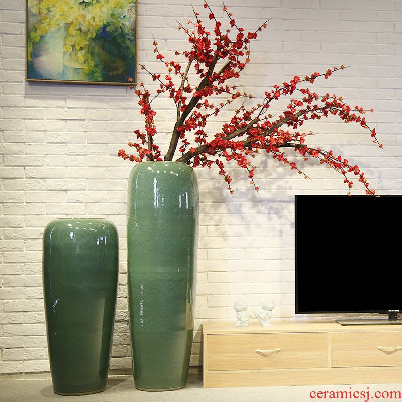 Jingdezhen ceramic vase of large new Chinese style living room hall, store decoration to the hotel club big furnishing articles