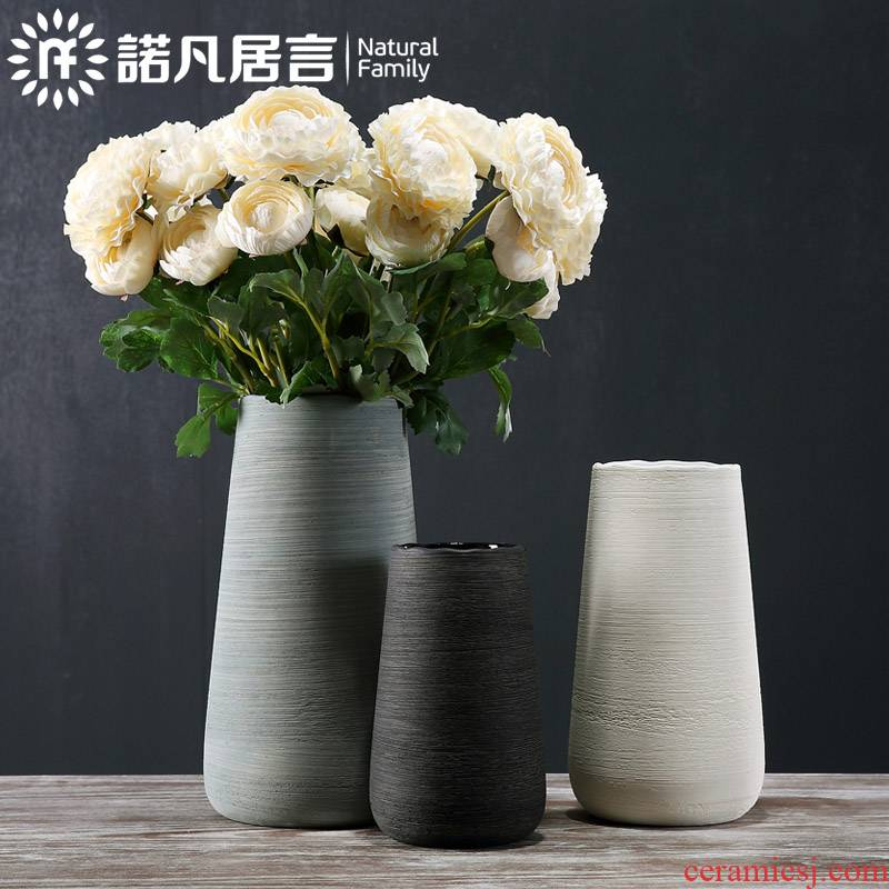 Nordic ceramic vase mesa place dry flower, flower decoration in hotel American I and contracted sitting room creative drawing