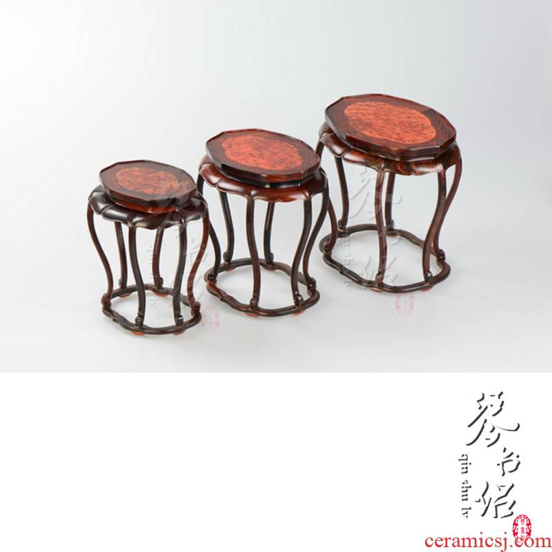 Red rosewood carving with sakura, solid wood vases are it antique jade penjing several Chinese bonsai base