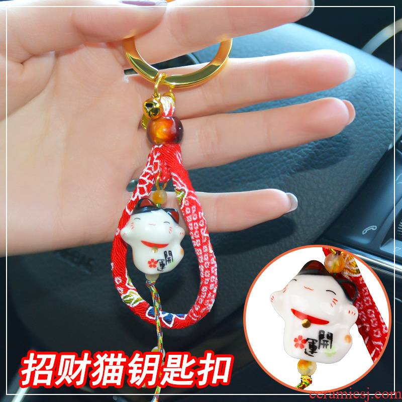 Stone workshop in plutus cat ornament key ring ceramic car key chain and wind express the idea of Japan
