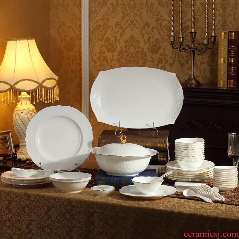 48 skull ipads porcelain tableware suit bowls disc European porcelain creative ceramic plate mail