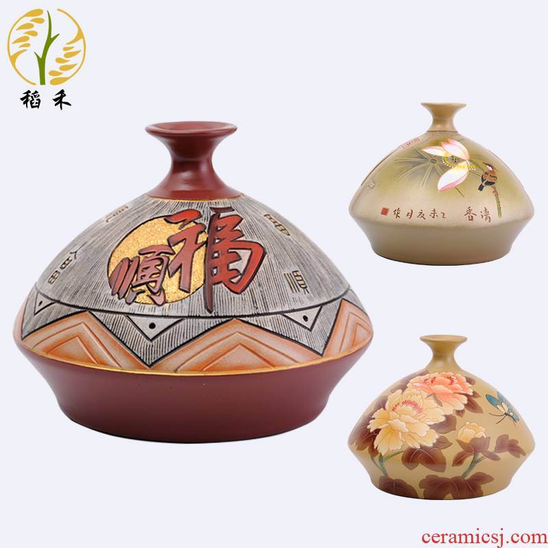 Classical Chinese style household ceramics handicraft pottery vase sitting room hotel furnishing articles 2020 holiday gifts