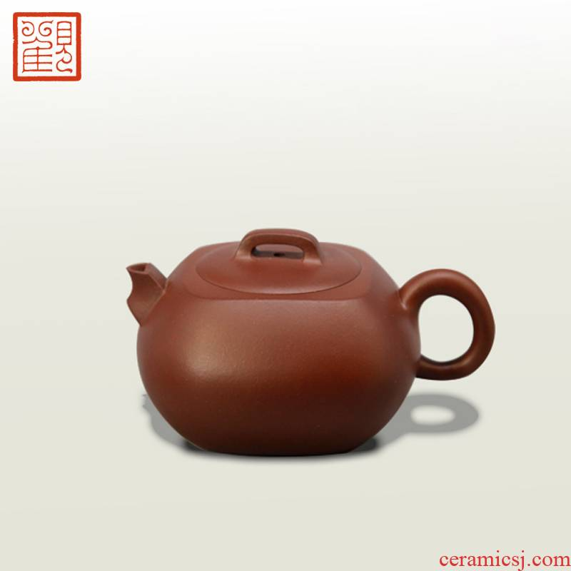 Restoring museum fangyuan it yixing purple jade gold sand heaven and earth ore old iron pot of purple clay by hand