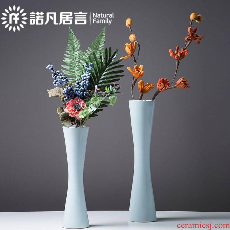 Ceramic vase dried flowers flower arrangement sitting room place hotel villa contracted fashion fine mouth modern creative decoration decoration