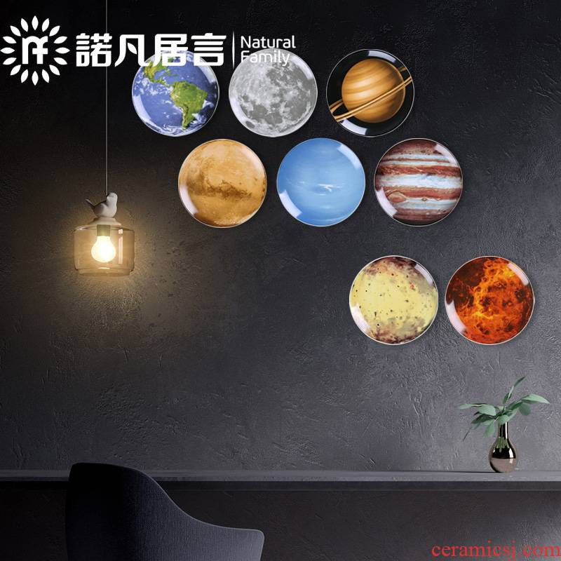 Nordic space universe series planet decoration plate of a planet hanging dish creative ceramic wall act the role of mural decoration plate
