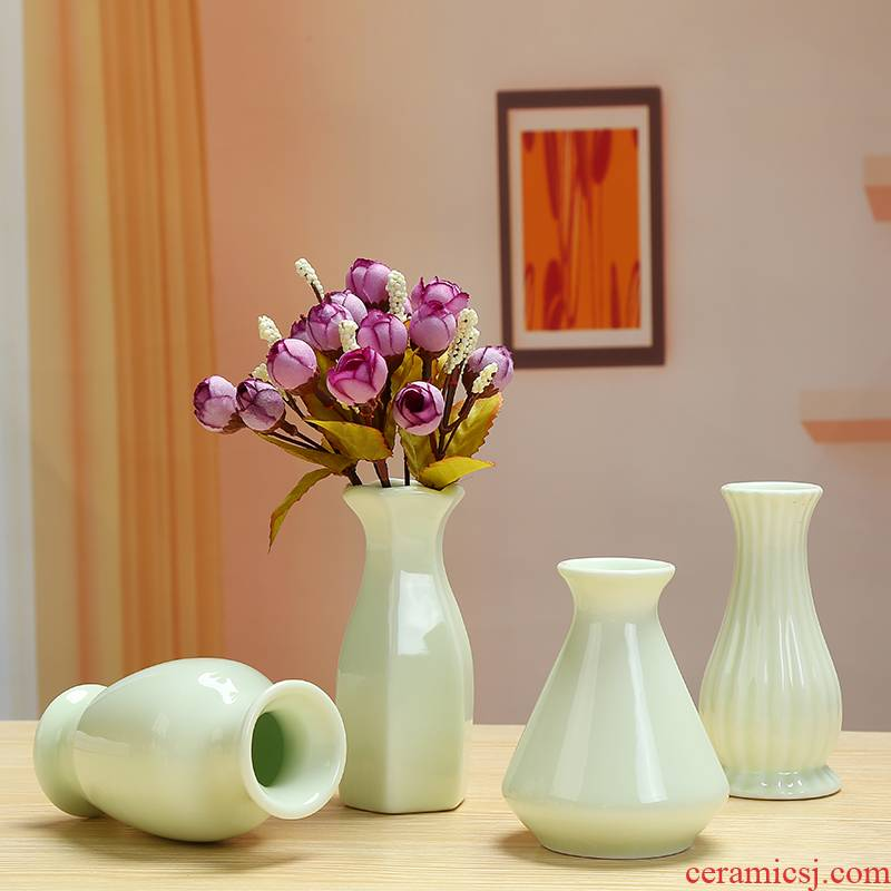 Celadon vase hydroponic plant container money plant flowers floret bottle of dry flower arranging flowers sitting room place decorative flower pot
