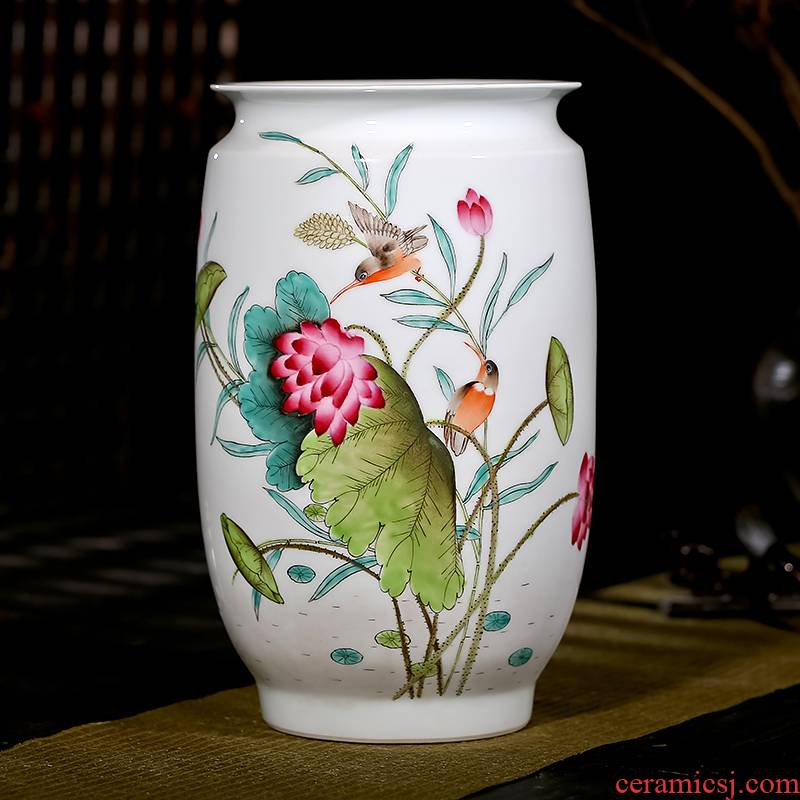 Jingdezhen ceramics Xia Guoan famous modern Chinese hand - made vases, flower arrangement sitting room adornment is placed