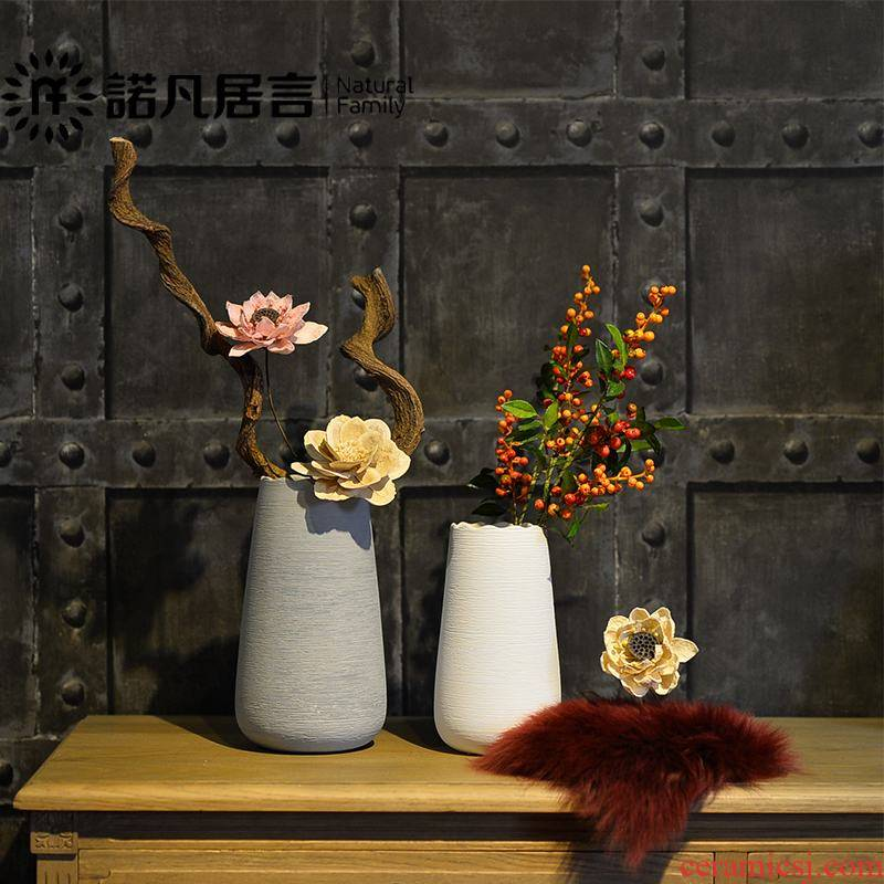 Ceramic flower vases, I and contracted white dried flowers, creative sample room living room home furnishing articles