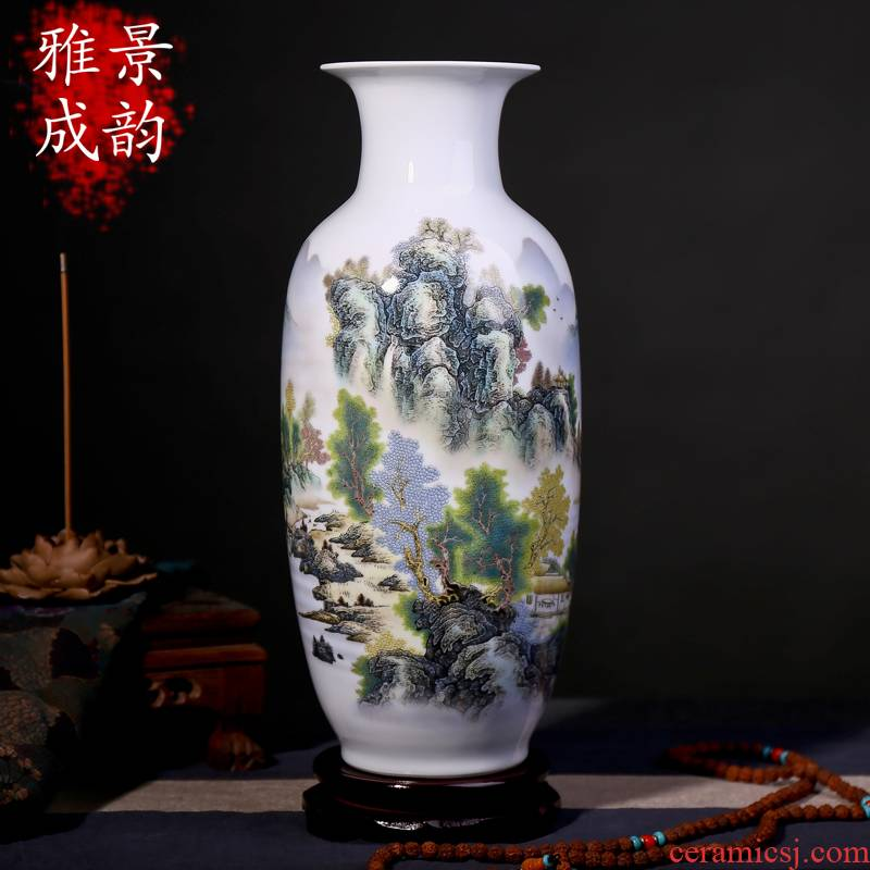 Jingdezhen ceramics vase interior furnishing articles sitting room decoration new classic retro hydroponic lucky bamboo vase