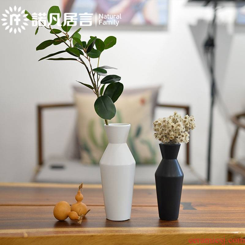 Ceramic vase furnishing articles mesa of new Chinese style day pattern sitting room is contracted as black and white, dry flower arranging creative decoration decoration