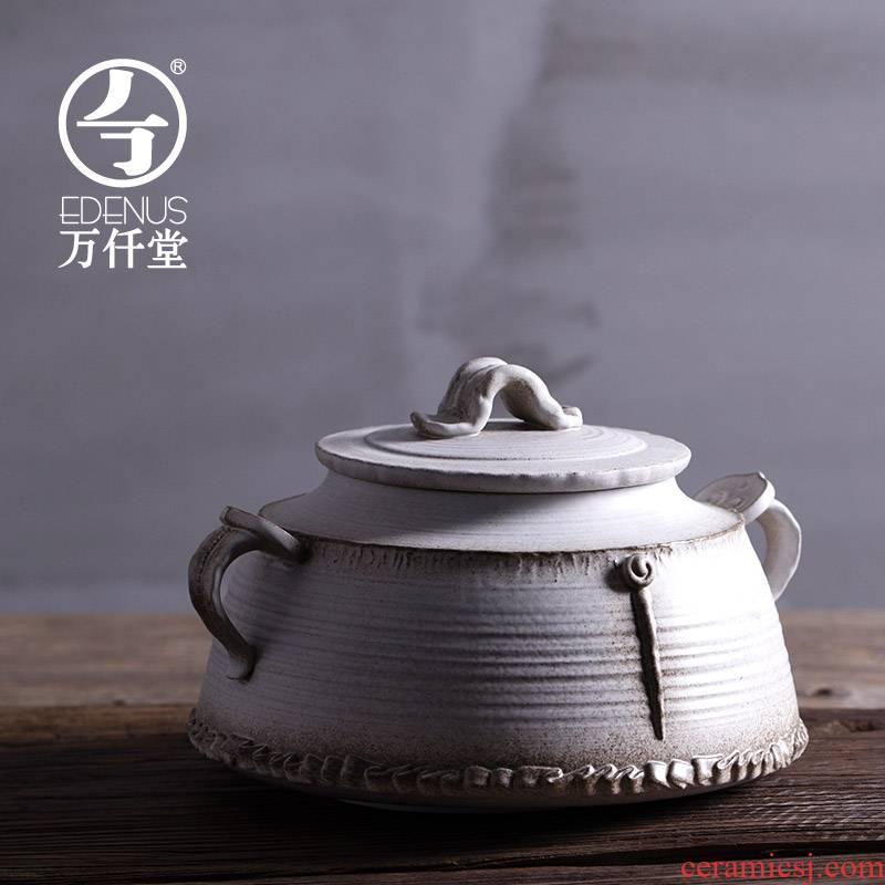 M letters kilowatt/hall display ceramics display furnishing articles receive pot han wind storage tank tea pot ganoderma lucidum in thousand