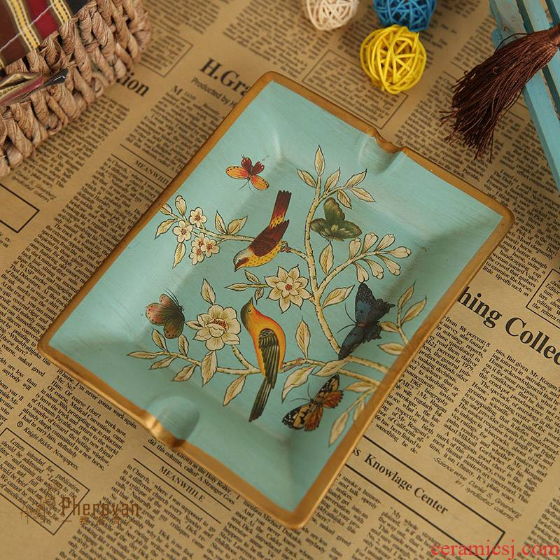 European American retro classic adornment ashtray creative furnishing articles home decoration ceramic ashtray